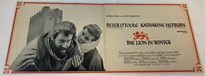 1968 two page trade ad ~ LION IN WINTER Peter O'Toole, Katharine Hepburn