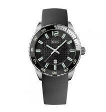 Hugo Boss Men's Stainless Round Dial Black Rubber Strap Sports Watch HB1512885