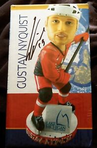 Detroit Red Wings Gustav Nyquist Signed Grand Rapids Griffin SGA Bobblehead Auto