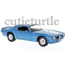 Welly 1972 Pontiac Firebird Trans AM 1:24 Diecast Model Toy Car 28075D Blue