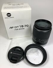 KONICA MINOLTA DT 18-70mm f3.5-5.6D Auto Focus Zoom Lens Fit Sony New In Box