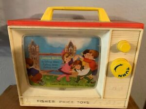 Vintage 1966 Fisher Price Music Box Two Tune TV London Bridge tested Works Great