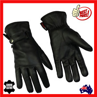 Women Leather Motorcycle Motorbike Gloves Ladies Riding New Black Comfortable