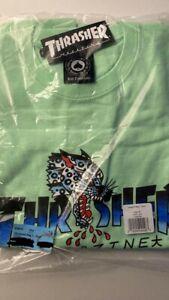 Thrasher T-shirt Mint Green Logo