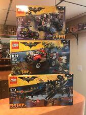 3 LEGO SETS  Batman Movie 70908  70907  70915  NEW SEALED FREE SHIPPING
