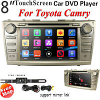 "8"" Car DVD Player GPS NAV Radio Stereo Head Unit BT USB for Toyota Camry 2007-11"