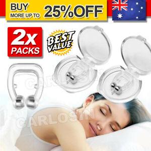 2x Clip Silicone Anti Snore Stop Snoring Nose Nasal Dilators Clip Sleeping Aid