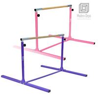 3'-5' Height Adjustable Gymnastics Bar Junior Kip Training Bar for Kids