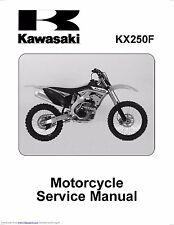 Kawasaki service workshop manual 2011 & 2012 KX250F
