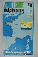 CARTE GUIDE NAVIGATION COTIERE 505 PORT ST LOUIS - MARSEILLE  PAR CLAUDE VERGNOT