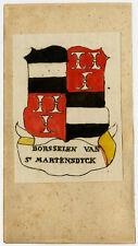 Antique Print-BORSSELEN-SINT MARTENSDYCK-MAARTENSDIJK-COAT OF ARMS-Ferwerda-1781