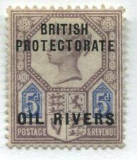 British Protectorate Oil Rivers overprinted on 5d Jubilee mint hinged