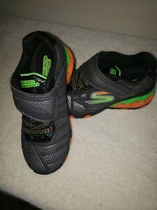 Sketchers Tuff Tech boys size 12 new w/o box, gray, black multi sneakers