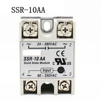 SSR-10AA 10A 80-250VAC Input 24-380VAC Output Solid State Relay Module AC to AC