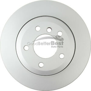 One New OPparts Platinum Disc Brake Rotor Rear 40206216 for BMW