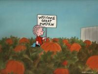Peanuts-Welcome Great Pumpkin! Limited Edition Cel Signed by Bill Melendez