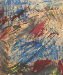 Vintage pastel painting abstract expressionism