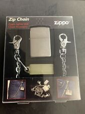 Zippo Z-Chain and Pocket Lighter Combo Set (New)