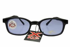 X KD's Sunglasses Original Biker Shades Motorcycle Black Blue 1012