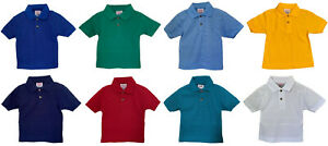 Boy's Plain Classic Polo T-Shirts, Short Sleeves, Collared Summer Top for Kids