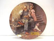 """The Norman Rockwell Limited Edition Heritage Collection """"The Cobbler"""" Plate 1978"""