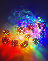 3M 20LED RGB Fairy String Lights Christmas Moroccan Balls Blubs Party wedding