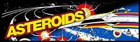 "Arcade Classics Marquee Asteroids Art Sticker  28"" x 10"""