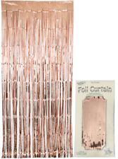 Oaktree Foil Door Curtain (0.90m x 2.40m) Metallic Rose Gold