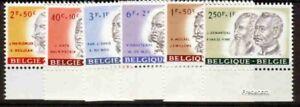 Belgique Oeuvres 1961. série complète. N**. A25