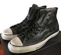 Converse John Varvatos Chuck Taylor Sneakers Painted Shine Black/Silver 9 Men