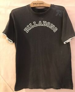 12 Boys BILLABONG White Black Logo 73 Print Tshirt Shirt T-shirt Top