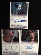 The X Files 2018 Autographs Lot of 3 Includes: Huskey,Darby & Arbuthnot
