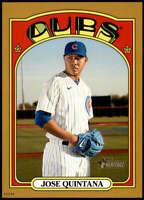 Jose Quintana 2021 Topps Heritage 5x7 Gold #196 /10 Cubs