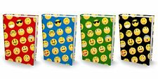 BOOK SOX Stretchable Book Cover: JUMBO EMOJI Value Pack of 4 Jackets Fit Most...