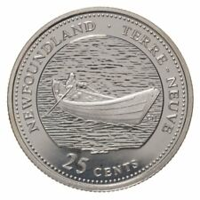 1867-1992 NL CANADA 25 Cent Newfoundland BU Provincial Coin from Mint Roll UNC