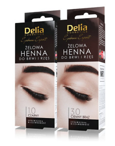 DELIA PRO EXPERT NEW HENNA GEL FOR EYEBROWS AND LASHES BLACK  DARK BROWN