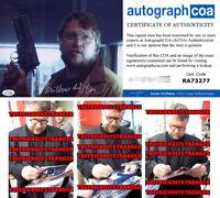 GUILLERMO DEL TORO signed 8X10 PHOTO - EXACT PROOF - GUN Scary Stories ACOA COA