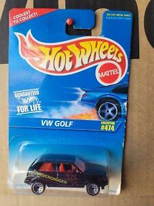 Hot Wheels 1996 - VW GOLF [BLACK] NEAR MINT CARD GOOD COMBINED POSTAGE