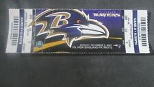 NFL- N.E. PATRIOTS V. BALTIMORE RAVENS- 12/3/2007- FULL TICKET- BRADY WINS #94