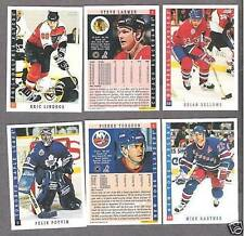 """1993-94 Score NHL """"Samples"""" Set of Six, Potvin, Lindros, Turgeon...(6)"""