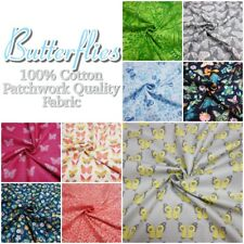 Butterfly Garden Pretty Insect Themed 100% Cotton Patchwork Quality Craft Fabric