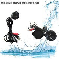 RCA USB  Marine Audio Cable Port 3.5 mm Auxiliary Extension Cable for ATV UTV