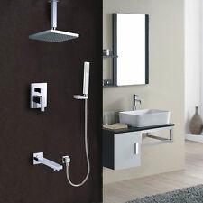 Ceiling Rain Shower System (Shower Head, Hand Shower,Tub Faucet Spout & Valve )