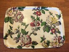 Vintage Pretty Floral Fibreglass Serving Tray – Kitchenalia – Great! –
