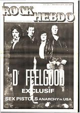 ROCK HEBDO n°3 # 1978 # DR FEELGOOD / SEX PISTOLS / KEVON COYNE