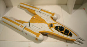 Vintage 2009 STAR WARS CLONE WARS Y-WING Bomber Animated Vehicle COMPLETE