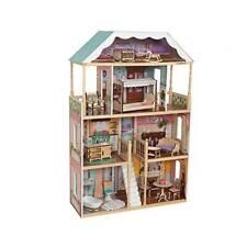 KidKraft Charlotte Pretend Play Wooden Dollhouse w/ Furniture EZ Kraft Assembly