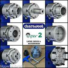 CHARNWOOD VIPER 2 LATHE CHUCK OR ACCESSORIES - JAWS - FACE PLATE - BOWL - CASE