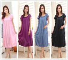 Meryl Short Sleeve Large Night-dresses Women's Nightwear Nightshirt Sleepwear