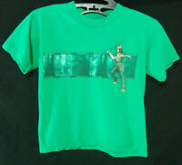 Star Wars Jar Jar Binks Boys Size Large 7 T Shirt Green Officially Licensed Tee